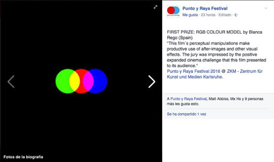 RGB Colour Model First Prize Punto y Raya Festival.