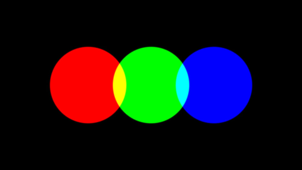 Frame of the animation film RGB Colour model.