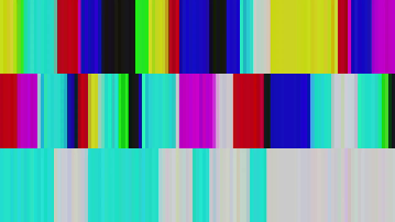 Three rows of vertical lines of different colours.